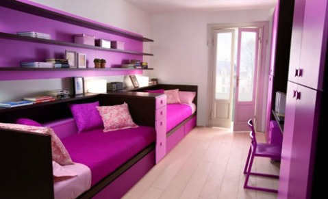 Purple kids bedroom