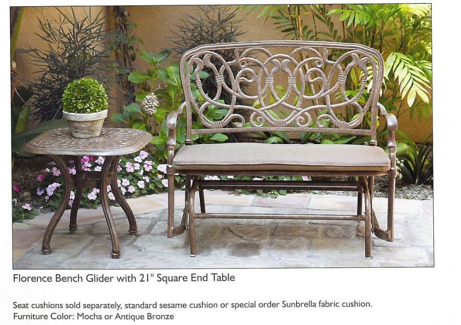 Charming Powdered Coated Cast Aluminum Patio Furniture   Darlee