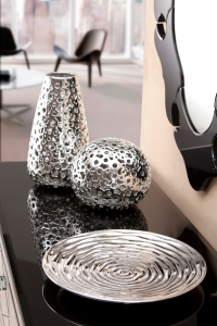 Silver Modern Accent Pieces