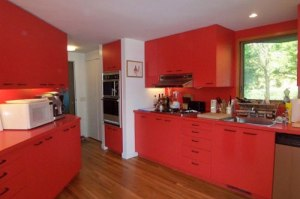 Ugly red kitchen